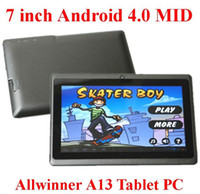 Wholesale 7 quot Allwinner A13 Q88 tablet pc point capacitive Screen android GHz MB GB Webcam