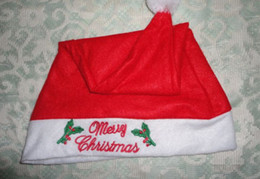 Wholesale Embroidered Christmas hat Christmas Napping hat leaves caps children caps kids Props hats red