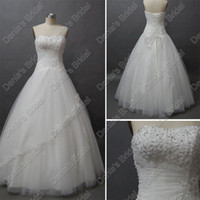 Wholesale 201 Puffy Ball Gown Quinceanera Debutante Dresses Beaded Lace Tulle Ruched Actual Real Images DB209