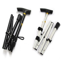 Wholesale Hot Selling utdoor Walk Walking Hiking Stick Fold Folding Handle Lightweight Height Cane