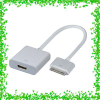 Wholesale iPad To HDMI Cable Adapter For Apple iPad iPad iPhone And iTouch Connect iPad To HDTV Screen