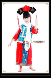 Wholesale Fall In love with Traditional Chinese children costume princess Qing Dynasty princess clothing