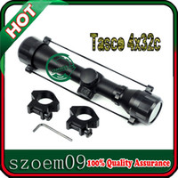 New Hunt Outdoor Rifle Scopes 4x32c Mount + Telescopic Crosshair Scope Sights