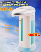 Wholesale 5pcs Hot sales Chrome Automatic Liquid Soap Shower Gel Soap Dispenser INFRARED SENSOR