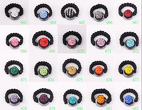 Celtic Women's Party Free shipping.10mm Disco Ball rings New ring Micro Pave CZ Disco Ball Bead Multi Colors 100pcs