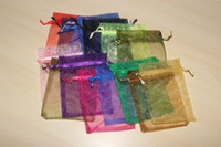Wholesale 100 pc Organza bags x12cm Jewelry Gift bags mixed colors candy bags colors