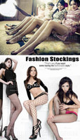 Wholesale 10 Fashion Sexy Black Fishnet Pattern Jacquard Stockings Pantyhose Tights socks