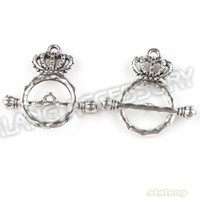 Wholesale Silver Plated Hot Style Crown Shape IQ Toggle Clasp Dangle Alloy Clasp Findings