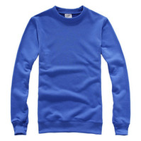 Wholesale Customize long sleeved thicken g printing your design or logo OEM t shirts Blue