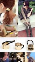 Wholesale 5 European Fashion Punk Metal Circle Hair Cuff Rope Band Hair Accessories sx137