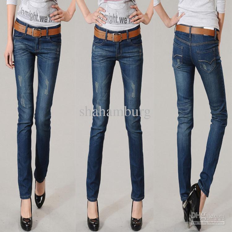2017 2012 Fashion Joker Women's Denim Jeans,Plus Size Popular ...