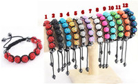 Wholesale Disco Ball Bracelets Resin Crystal Beads Bracelets Hematite Beads Bracelet Adjustable J270