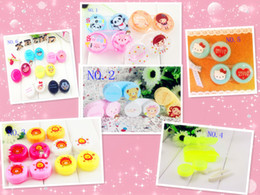 Wholesale new fashion lovely contact lens glasses many kinds animal cartoon contact lens case