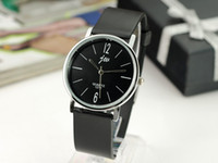 Wholesale New Hot Fashion men boy Quartz Watches Black Concise easy Belt watch