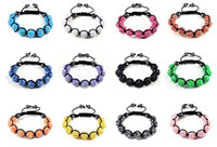 Wholesale 24pcs MM Resin Crystal Beads Multicolor Bracelets Bling Hematite Beads Bracelet Jewelry