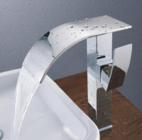 Waterfall bathroom sink - Basin NEW Modern Chrome Bathroom Tall Faucet Vessel Sink Lavatory Basin Hot amp Cold Wat