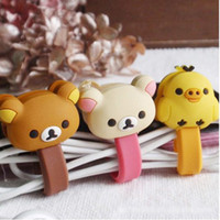 Cute Cartoon Earphone Cable Winder Cable Holder Coiling Line...