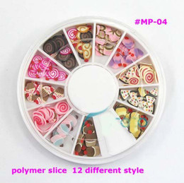Wholesale AH050 styles cute cupcakes polymer slice perfect for nail art decoration in wheel MP