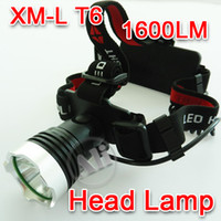 Wholesale NEW Lm CREE XM L XML T6 LED Headlamp Rechargeable Headlight FOR x18650 Charger