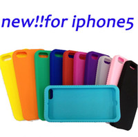 Wholesale Silicon Material Back Case Cover For Apple for Iphone5 for iphone