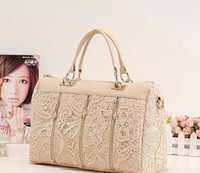 Wholesale Stylish Lady s MM LOVE PU handbags women bags Lace Bag bags drop shipping