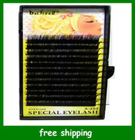 Wholesale Special Individual Real hair Mascara Eyelash Extension Lashes Eyelashes mm Free Shpping