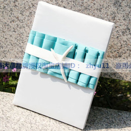 Wholesale New Arrival Tiffany Blue and White Wedding Guest Books