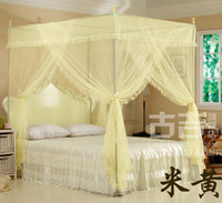 Wholesale home bedding Insect Bed Canopy Netting Mosquito Net curtain Canopies translucence with steel tube
