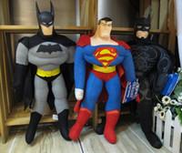 Wholesale Retail S superman general mobilization batman Black Mask plush toy quot cm doll Christmas gift