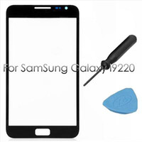 Wholesale Outer Replacement Screen Glass Lens for Samsung Galaxy Note i9220 N7000 Black