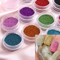 Wholesale caviar nail Art Acrylic Steel Ball Manicure Decoration Tips Colors HB4510