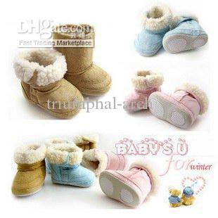 Infant Boys Girls Toddler Boots Shoes Baby Girl Snow Shoes Boot ...
