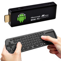 Wholesale 2012 New MK802 II Android Mini PC Wi Fi TV Dongle A10 Cortex A8 Wireless Fly Mouse