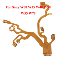 Wholesale Lens Flex Cable For Sony W30 W35 W40 W50 W55 W70 Camera Repair Part New Yellow