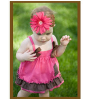 Wholesale baby bow lace gallus dress jumpers dresses blouses tank tops underpants pp pant suits babywear P7