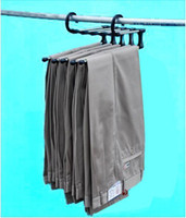 Wholesale New Hot plastic Magic trousers hanger rack multifunction pants closet hanger rack in one