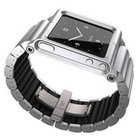 Yes Metal For iPod Nano All metal aluminum LunaTik Lynk Watch Kits Band lunatik Wrist Strap Case For iPod Nano 6 Hot Selling