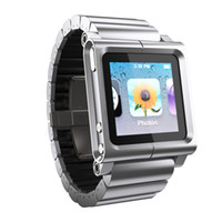 Yes Metal For iPod Nano All metal aluminum LunaTik Lynk Watch Kits Band lunatik Wrist Strap Case For iPod Nano 6 Mix Order