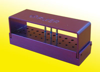Wholesale New Opening Bur Holder Stand Autoclave Disinfection Box Purple Quality Guarantee