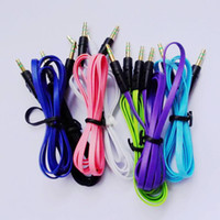 Wholesale 3 mm to mm Colorful Car Aux audio Cable Extended Audio Headphone Stero Cable FACTORY