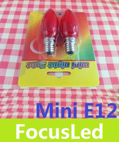 1W altar candles - Newest Mini E12 W Red Shell Led Candle Light Bulb Lamp God Altar Led Lights V