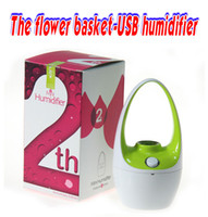 Wholesale Air Humidifier USB Humidifier The Mini Flower Basket Cool Mist Humidifier Ultrasonic Humidifiers