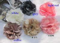 Wholesale braided flower hair accessories corsage silk flower brooch dual purpose mixed color brooch bouquet