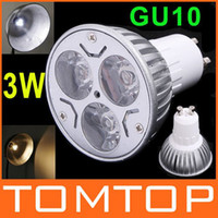 Wholesale W White Warm White LED Light Lamp GU10 Spotlight Bulb V Downlight H8859