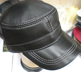 Goat Leather Military Hats army cap With Adjustable Strap Stylish Hat 5pcs lot #2274