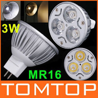 Wholesale 3W MR16 White Warm White LED Light Lamp Bulb energy saving Spotlight bulbs V downlight H8861W WW