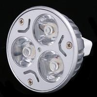 Luce della lampada / Warm White LED 3W MR16 bianco Lampada a risparmio energetico Spotlight lampadine 12V da incasso H8861W / WW