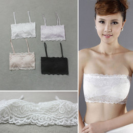 Wholesale Candy color all match full lace half cup small cute tube top tube top bra sets b3024