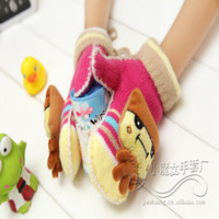 Wholesale E6728 Baby Gloves cute lovely design mittens gloves knitted warm gloves EMS free