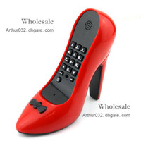 Wholesale Newest Arrival Lady s Love Unique Red High Heel Shoes Land Line Telephone Phone For Home
